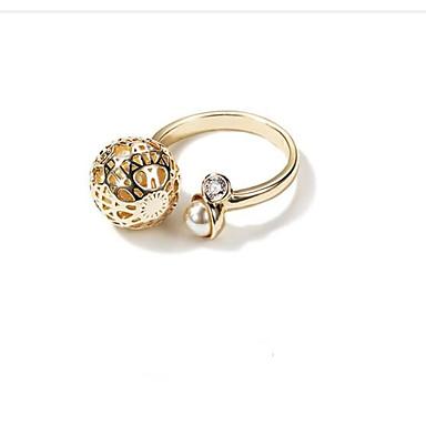 Damskie mankiet Pierścień 1 Gold Stop Owalne Modny Koreański Inny Codzienny Biżuteria kostiumowa