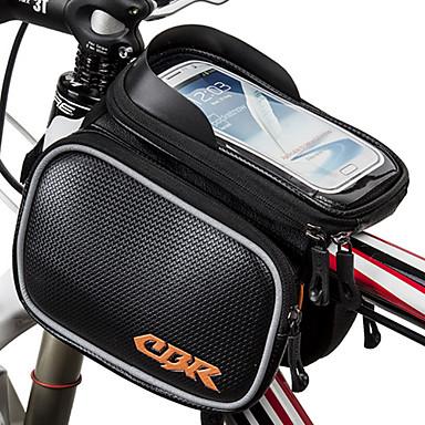 hesapli Bisiklet Çantaları-Cep Telefonu Çanta Bisiklet Çerçeve Çantaları 6.2 inç Dokunmatik Ekran Su Geçirmez Bisiklet için iPhone X Samsung Galaxy S8 / S7 / Note 7 Samsung Galaxy S8+ / Note 8 Siyah Gümüş Kırmzı Bisiklete