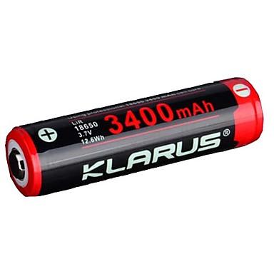 abordables Lampes & Lanternes de Camping-KLARUS 3400mAh batterie pour Lithium-ion 18650 Portable Professionnel Transport Facile Poids Léger Aucun Options de prise