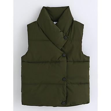 Kamizelka Bawełna Dla chłopców Jendolity kolor Bez rękawów Army Green