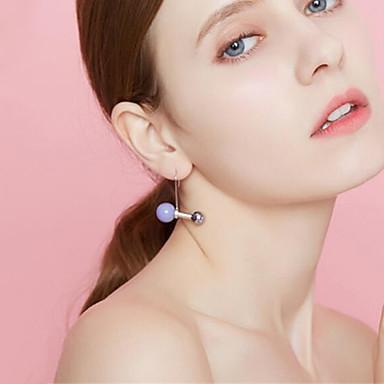 Damskie Pearl imitacja Kolczyki na sztyft - Posrebrzany, Pozłacane Owalne Orange, Purple, Czerwony