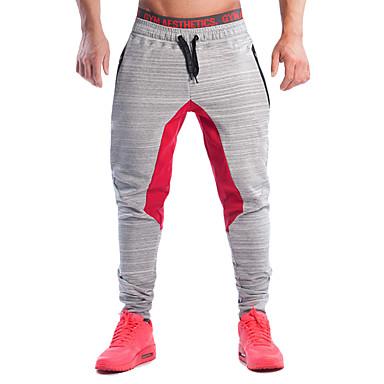 Herre Snorer / Harem Jogger bukser - Svart, Grå sport Bukser Trening & Fitness, Løp Sportsklær Pustende, Bekvem Elastisk