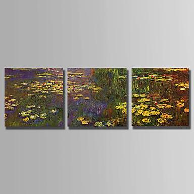 Hang-Ölgemälde Handgemalte - Blumenmuster / Botanisch Abstrakt Segeltuch