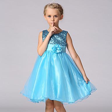 fe04447a3ae6 Παιδιά Κοριτσίστικα Γλυκός   Πριγκίπισσα Πάρτι Μονόχρωμο   Φλοράλ Πούλιες    Επίπεδα Αμάνικο Πολυεστέρας Φόρεμα Βυσσινί