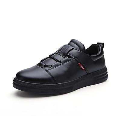 Herren Schuhe PU Alle Jahreszeiten Komfort Leuchtende Sohlen Sneakers Für Normal Schwarz Rot
