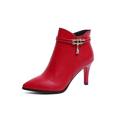 Damen Schuhe PU Sommer Sandalen Stöckelabsatz Schleife für Normal Schwarz Rot