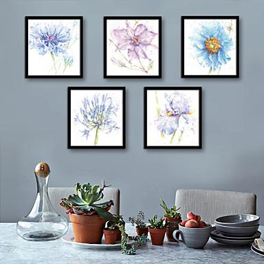Botaniczny Kwiatowy/Roślinny Ilustracja Wall Art,PVC (polichlorek winylu) Materiał z ramą For Dekoracja domowa rama Art Living Room