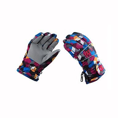 Rękawice narciarskie Dla dzieci Full Finger Keep Warm Powłoka Narciarstwo Piesze wycieczki Outdoor Exercise Kolarstwo / Rower Zima