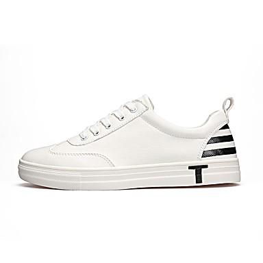 Herren Schuhe PU Frühjahr, Herbst, Winter, Sommer Komfort Leuchtende Sohlen Sneakers Für Normal Weiß Schwarz Rot