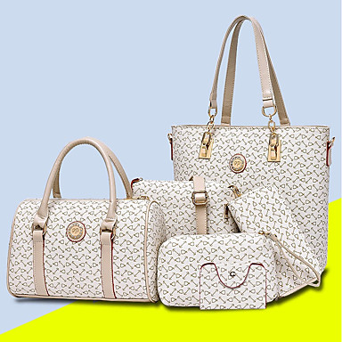 5 Pieces Women's Bags PU (Polyurethane) Bag Set Purse Set