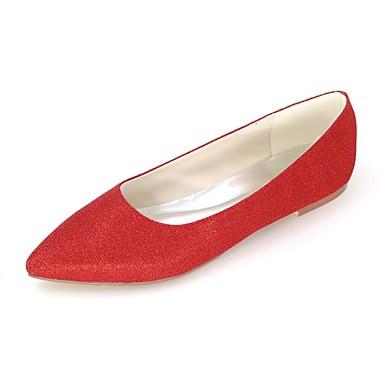 Mujer Zapatos PU Primavera Bailarina Bailarinas Tacón Plano Dedo Puntiagudo Rojo / Azul / Rosa 5qtxg4gQD