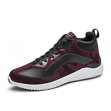 Herren Schuhe PU Winter Herbst Komfort Leuchtende Sohlen Sportschuhe Walking Für Sportlich Normal Schwarz Grau Rot