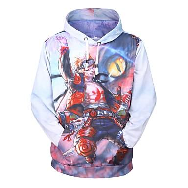 Zainspirowany przez Naruto Naruto Uzumaki Anime Kostiumy cosplay swetry Cosplay Nadruk Długi rękaw Bluza z Kapturem Na Męskie Damskie