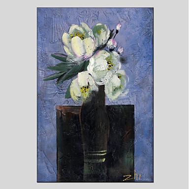 Hang-Malowane obraz olejny Ręcznie malowane - Kwiatowy / Roślinny Nowoczesny Brezentowy