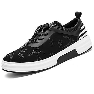 Herrn Schuhe Gummi Frühling / Herbst Komfort Sneakers Schwarz / weiss