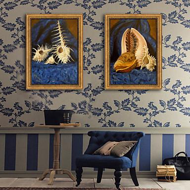 Oprawione płótno Zestaw w oprawie Martwa natura Wypoczynek Wall Art, PVC (polichlorek winylu) Materiał z ramą Dekoracja domowa rama Art
