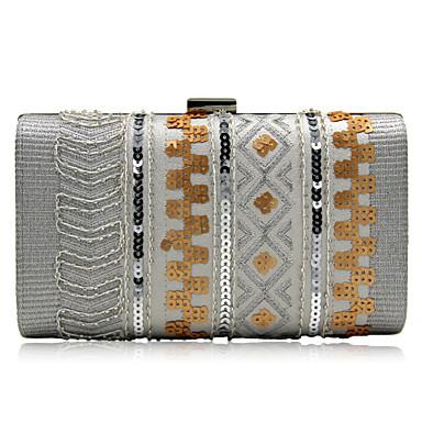 Damen Taschen PU Abendtasche Perlenstickerei Pailletten für Veranstaltung / Fest Alle Jahreszeiten Gold Schwarz Silber