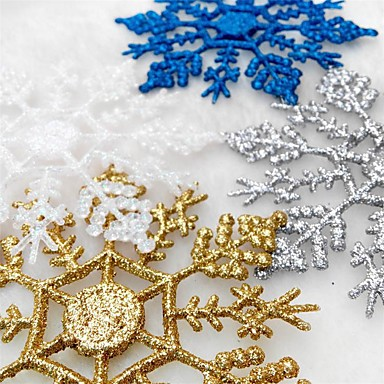 Dekoracje świąteczne Dekoracje świąteczne Ozdoby świąteczne Złoty / Biały / Srebrny 12 szt.
