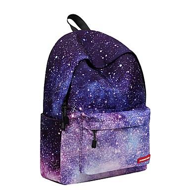 Dla obu płci Torby Poliester plecak Zamek na Casual Na wolnym powietrzu Na każdy sezon Light Purple