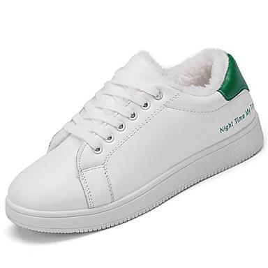 Damskie Obuwie Guma Zima Comfort Tenisówki Okrągły Toe Black / Czerwony / Green
