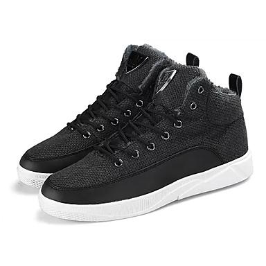 Męskie Buty Materiał Zima Comfort Tenisówki Na Casual White Black Khaki
