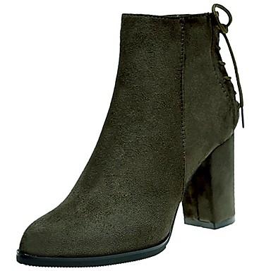 Damen Schuhe Gummi Winter Springerstiefel Stiefel Runde Zehe Reißverschluss Für Schwarz Armeegrün