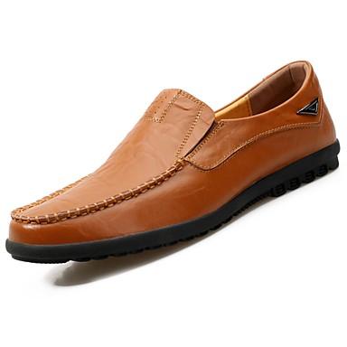 Herrn Schuhe Gummi Frühling / Herbst Komfort Loafers & Slip-Ons Gelb / Braun / Blau