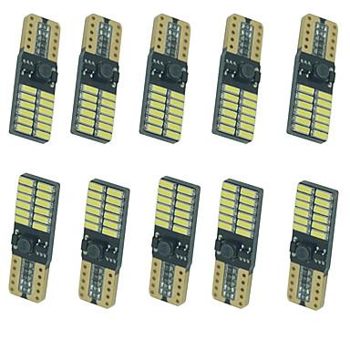 10pcs מכונית נורות תאורה 5W SMD 4014 8 תאורת איתות For אוניברסלי כל השנים