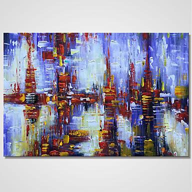 Ręcznie malowane Streszczenie Poziomy, Comtemporary Brezentowy Hang-Malowane obraz olejny Dekoracja domowa Jeden panel
