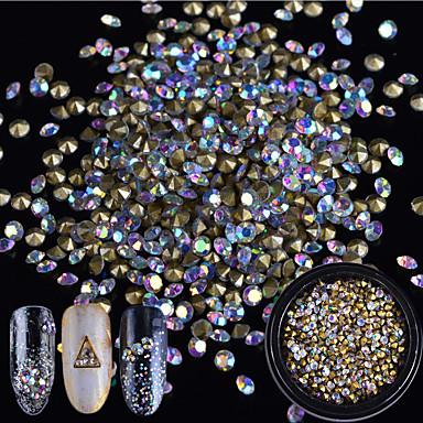 1 pcs Błyszczący Biżuteria do paznokci Perły Kryształ / Luksus / Modny design Sztuka zdobienia paznokci Manikiur pedikiur Codzienny Rhinestone / Elegancja i luksus / Błyszczące