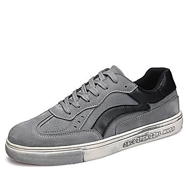 Herren Schuhe PU Frühjahr, Herbst, Winter, Sommer Komfort Leuchtende Sohlen Sneakers Für Normal Schwarz Grau