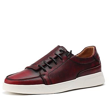 Męskie Fashion Boots Sztuczna skóra Jesień Comfort Tenisówki Gray / Brown / Wine
