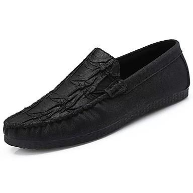 Męskie Buty Syntetyczny Microfiber PU / PU Wiosna / Jesień Comfort / Mokasyny Mokasyny i pantofle Black