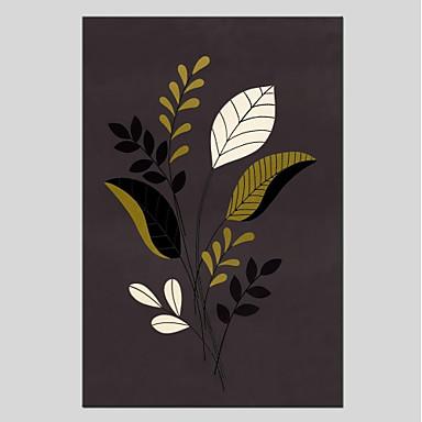 Handgemalte Blumenmuster/Botanisch Modern Ein Panel Leinwand Hang-Ölgemälde For Haus Dekoration