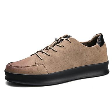 Herren Schuhe PU Alle Jahreszeiten Komfort Leuchtende Sohlen Sneakers Für Normal Schwarz Braun