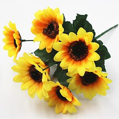 Sztuczne Kwiaty 5 Gałąź minimalistyczny styl / Pasterski Styl Słoneczniki Bukiety na stół / Nie wliczone