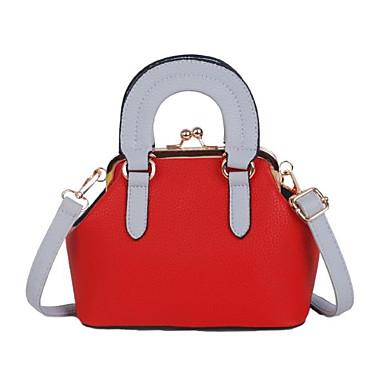 Damen Taschen PU Tragetasche Reißverschluss für Normal Ganzjährig Weiß Schwarz Rote Rosa Gelb