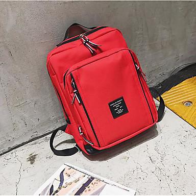 Damen Taschen Oxford Tuch Rucksack Reißverschluss für Normal Alle Jahreszeiten Blau Schwarz Rote Grau