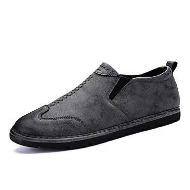 Męskie Buty Guma Zima Comfort Mokasyny i pantofle na Na wolnym powietrzu Black Gray