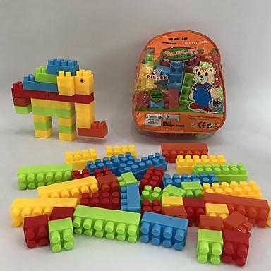 Klocki 57pcs Słoń Zwierzę Cartoon Shaped Cartoon Toy DIY Motyw kreskówkowy Rodzina Dla chłopców Zabawki Prezent