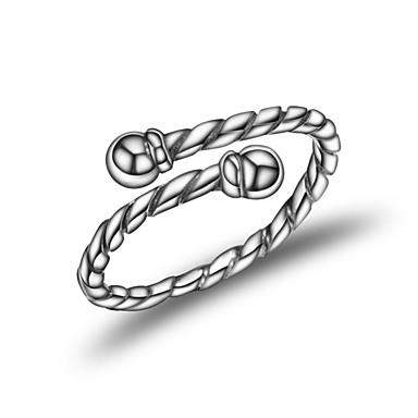Damskie mankiet Pierścień Silver Srebrny Geometric Shape Modny Koreański Inny Codzienny Biżuteria kostiumowa