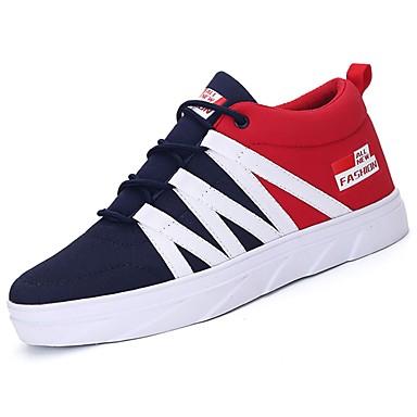 Męskie Buty PU Jeans Nubuk Zima Jesień Comfort Tenisówki na Casual Black Gray Czerwony Niebieski