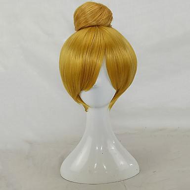 Synthetische Perücken Glatt Synthetische Haare Updo Blond Perücke Damen Kurz Cosplay Perücke / Party-Perücke Kappenlos