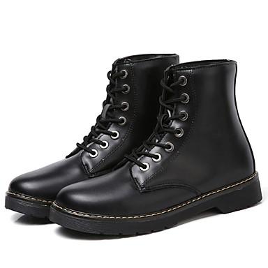Damskie Obuwie Skórzany Nappa Leather Jesień Zima Modne obuwie Comfort Buciki Okrągły Toe na Casual White Black