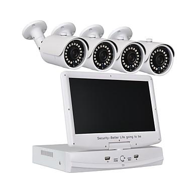 4-kanałowy system zabezpieczeń 10,1-calowy aparat 1080p ahd dvr 41.0mp odporny na warunki atmosferyczne i noktowizyjny
