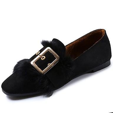 Damskie Obuwie Guma Zima Comfort Mokasyny i pantofle Okrągły Toe Black / Khaki