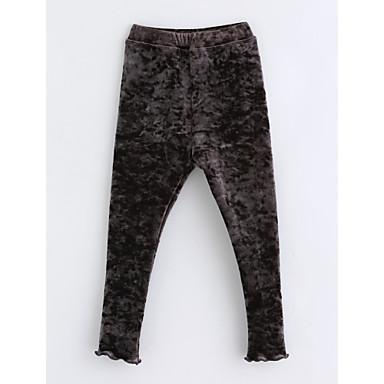 Brzdąc Dla dziewczynek Solidne kolory Bawełna Spodnie Ciemnoszary 100