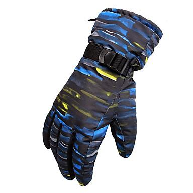 Rękawiczki zimowe Męskie Damskie Full Finger Keep Warm Wodoodporny Rain-Proof Poliester druku Narciarstwo Zima