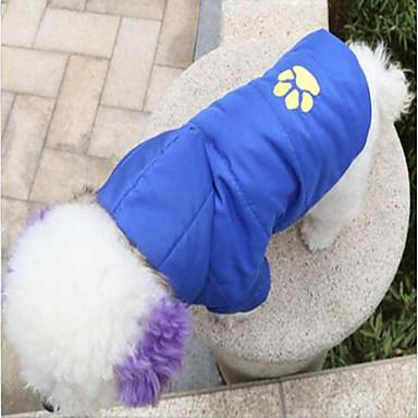 Katze Hund Mäntel Kapuzenshirts Weihnachten Hundekleidung Tier Rot Blau Rosa Terylen Kostüm Für Haustiere Lässig/Alltäglich warm halten