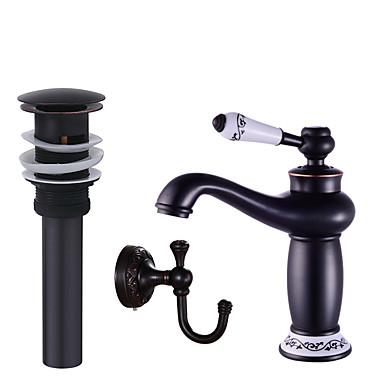 Mittellage Keramisches Ventil Schwarz, Wasserhahn-Set